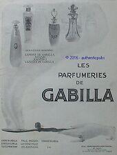 PUBLICITE GABILLA PARFUM AMBRE MINNE XANTHO VIOLETTE DE 1913 FRENCH AD ART DECO