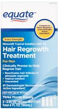 Equate Minoxidil Extra Strength Hair Regrowth Treatment Men 3 Month SEALD 1/2020