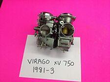 YAMAHA VIRAGO XV 750 SET OF   HITACHI CARBS CARBURETORS 1983