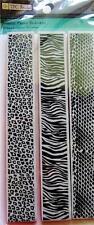 TPC Rubber Cling Stamps ANIMAL PRINT BORDERS Zebra Cheetah Snake