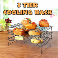 Non-Stick Stackable Cooling Cake Cookie Biscuit Rack Stacks Baking Bakery 3-Tier