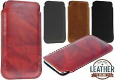 SLIM 4 COLORS POCKET CASE POUCH MADE OF GENUINE LEATHER COVER FOR MOBILE PHONES