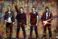 U2 Poster, U2 Pop Art Ink Tribute U2 Colorful 12x18in Free Shipping