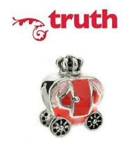 Genuine TRUTH PK 925 sterling silver & enamel PRINCESS CARRIAGE charm bead