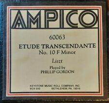 ETUDE TRANSCENDANTE NO. 10 BY LISZT AMPICO RECUT REPRODUCING PIANO ROLL