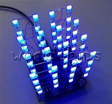 4X4X4 3D Light Cube Kit Arduino Shield Led Precise Diy Kit Blue