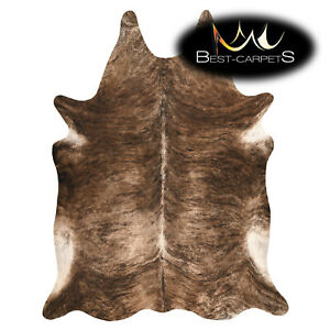 AMAZING artifical Cowhide Rug Animal Cow printed light brown Large size Carpet