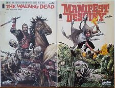 Walking Dead #127 & Manifest Destiny #8 SDCC 2014 Connecting Covers NM 1st Print