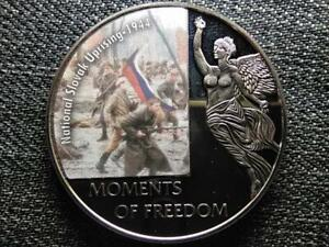 Liberia Moments of Freedom Warsaw Ghetto Uprising - 1943 10 Dollars Coin 2006 PL