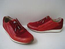 PAUL GREEN ELVIS 2 TONE RED LEATHER SNEAKERS WOMEN US 6.5 UK 4 COMFORT RARE