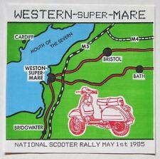 National Scooter Rally ORIGINAL 1985 UK cloth backpatch Vespa Lambretta mod