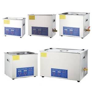 Digital Ultrasonic Cleaner Timer Stainless Steel Cotainer 3/6/10/15/30L UK