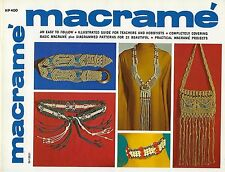 Beginner Macrame Illustrated Knotting Guide Instructions Craft Book 21 Projects