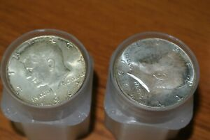 (2) two tubes Roll of 40 $20 Face 90% Silver , J.F. Kennedy Half Dollar Lot