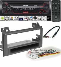 Sony CD Player PKG Chevrolet S10 GMc Sonoma Radio Install Dash Kit + Harness