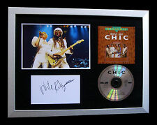 NILE RODGERS+CHIC+SISTER SLEDGE+SIGNED+FRAMED=100% AUTHENTIC+FAST GLOBAL SHIP