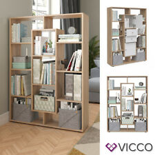 VICCO Raumteiler 11 Fächer Sonoma Eiche Bücherregal Standregal Wandregal Büro