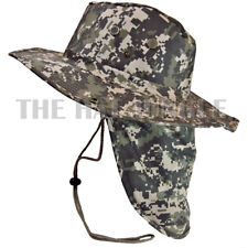 Boonie Hat Neck Flap Fishing Hiking Outdoor Summer Cap Military Snap Wide Brim