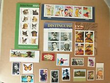 US 2010 COMMEMORITIVE STAMP YEAR SET 38 LOT TOTAL MNH BLOCKS AND STRIPS NICE SET
