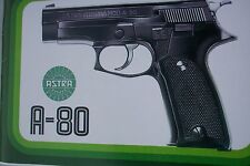 ASTRA A-80 SEMI-AUTO PISTOL FACTORY MANUAL, over twenty pages of information