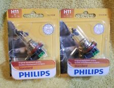 2 lot h11 b1 Headlight Bulb-Standard-Single Blister Pack Philips 12362B1