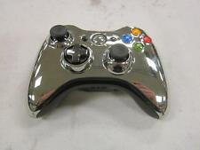 Chrome Silver Xbox 360 Wireless Controller with Battery Cover *Used*