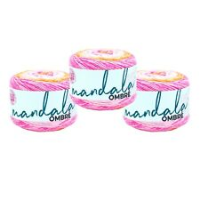 Lion Brand Yarn 551-207 Mandala Ombre Yarn, Serene (Pack of 3 cakes)