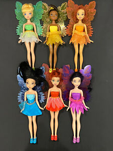 "Disney Fairies. 10"" Dolls. Tinker Bell and Friends. Pixie Hollow. Lot of 6!!"