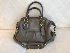 Coach Ashley F15445 Leather Convertible Satchel Shoulder Handbag Metallic Bronze