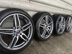 """Genuine Mercedes E Class W213 W238 19"""" AMG Line Alloy Wheels & Tyres W212"""