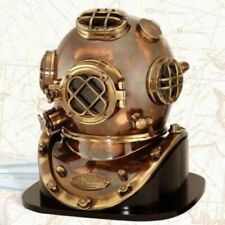 Deep Sea US Navy Mark V Diving Divers Helmet With Wooden Base Diving Helmet