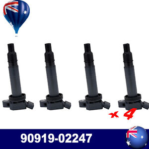 4* 90919-02247 Ignition Coil For Toyota Camry Hilux TGN16R 2.7L Regiuce Lexus