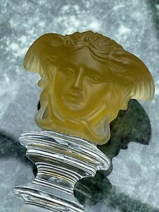 ROSENTHAL CRYSTAL BOTTLE STOPPER BY GIANNI VERSACE Mustard Yellow RARE