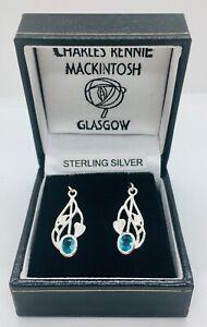 Charles Rennie Mackintosh Silver Earrings