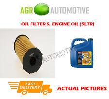 DIESEL OIL FILTER + FS PD 5W40 ENGINE OIL FOR CITROEN C5 2.7 204 BHP 2008-