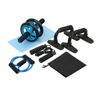 Gym AB Roller Wheel Kit Home Abdominal Muscle Fitness Exercise Workout Training