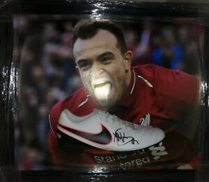 Signed Framed Xherdan Shaqiri Liverpool Football Boot Display Switzerland 2