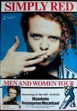 SIMPLY RED - 1987 - Konzertplakat - Men and Woman - Tourposter - Mannheim