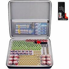 300+ Battery Organizer Storage Box with Battery Tester Bt168 Case Bag Holder .
