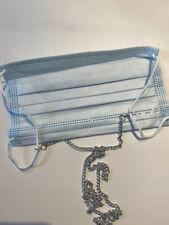 MASKENKETTE-/Maskenhalter silber,mit Karab-Haken Zum Wechseln , Einf.u Praktisch