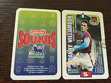 Subbuteo Squads 1996 Trading Card: West Ham United - DANNY WILLIAMSON