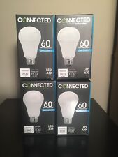 Lot Of 4 Tcp Led Connected A19 - 60 Watt Equivalent (11W) Daylight