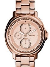 FOSSIL CHELSEY SERIES WOMEN'S WATCH ES3720 ROSE GOLD-TONE MULTI FUNCTION DIAL