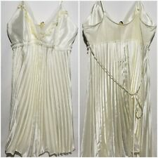 Flora Nikrooz Ivory Bridal Lingerie Pleated Lace Nightie Nightgown Size Medium