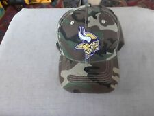 MINNESOTA VIKINGS   CAMOUFLAGE HAT ONE SIZE FITS ALL.