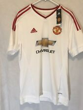 Adidas Manchester United Jersey Size L White/Red Climacool New