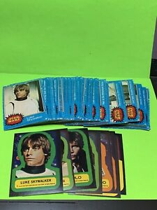1977 Topps Star Wars Series 1 Blue Card Complete Set with Sticker Set Ex-Nr-Mint