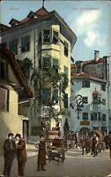 Bozen Italien Italia Trentino Südtirol 1908 Batzenhäusl Lokal Restaurant Gemälde