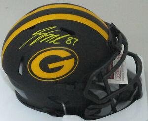 Packers JORDY NELSON Signed Riddell ECLIPSE Speed Mini Helmet AUTO -  JSA