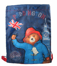 Paddington Bear London Drawstring Trainer Gym Bag Swimming Blue Back to School